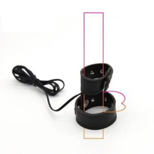 Wireless Remote Control Electro Shock PU Leather Penis Ring Scrotal Ring Electric Stimulate Cock Rings Medical Sex Toys For Men